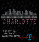 Charlotte Skyline Rhinestone Digital Download