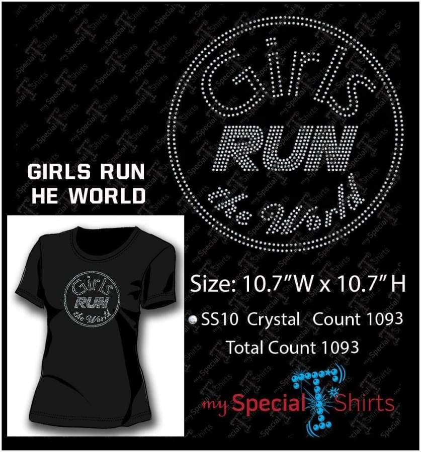 Girls Run The World Rhinestone Digital Download Mst - Be Createful - Becreateful.com