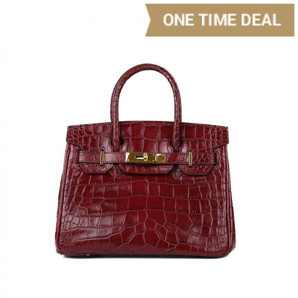 "Caty Croco Gold 10"" - Bordo"