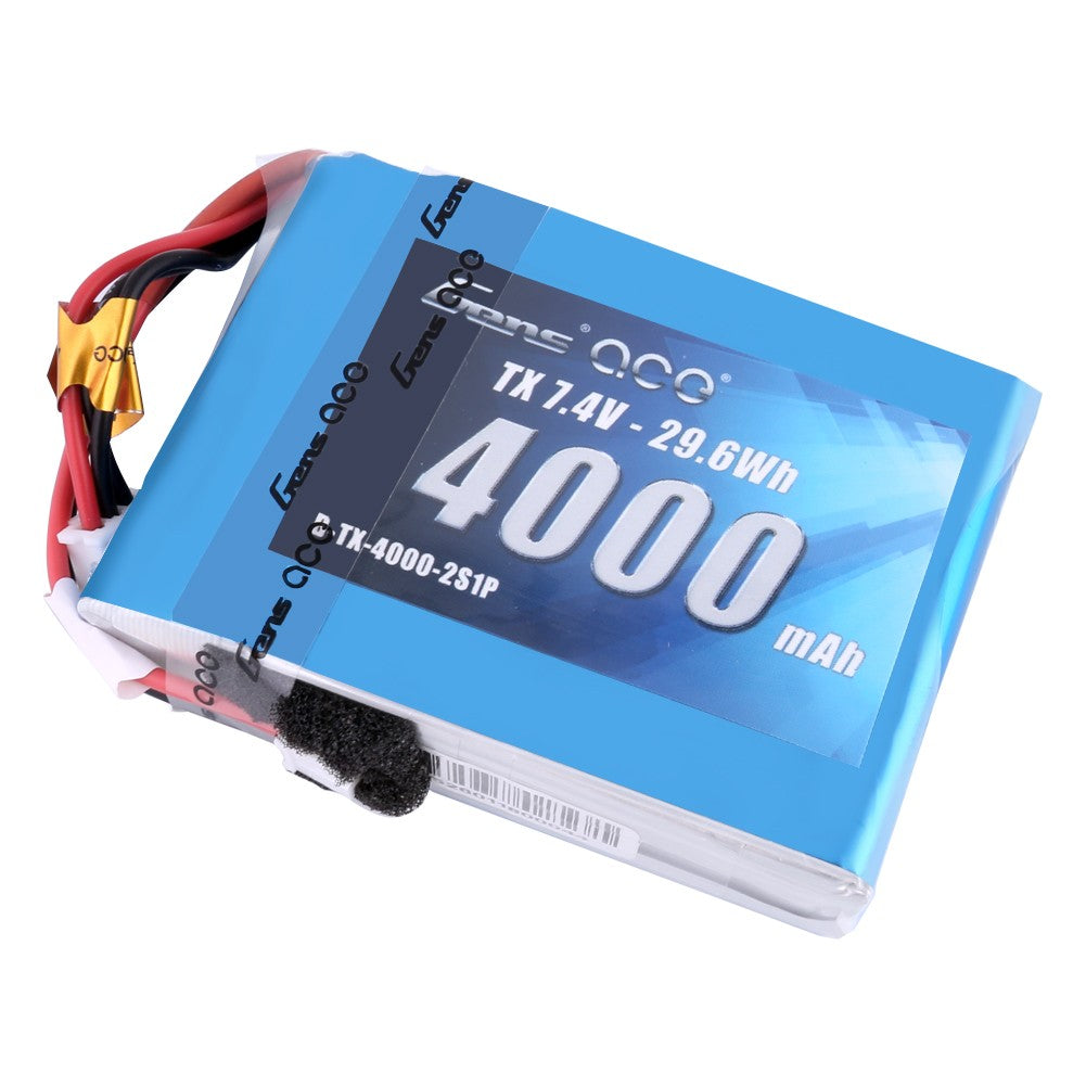 Gens ace 4000mAh 7.4V 2S1P - TX Lipo Battery Pack with JST-EHR Plug