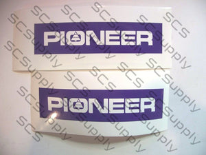 "Pioneer small PIONEER with tree in ""O"" bar stencil set"