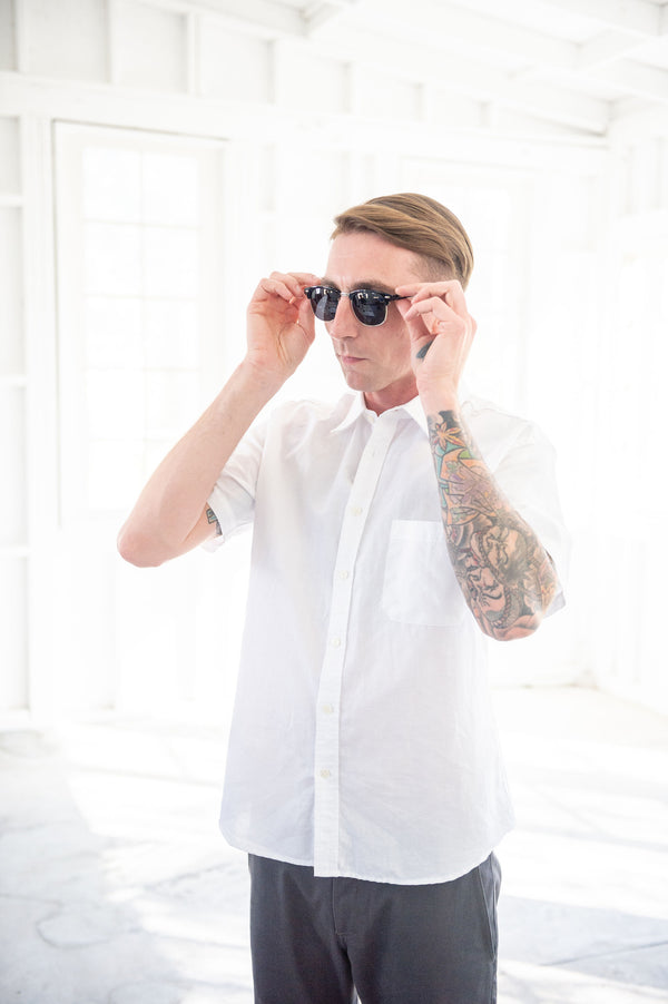 Corridor New York White Linen Short Sleeve