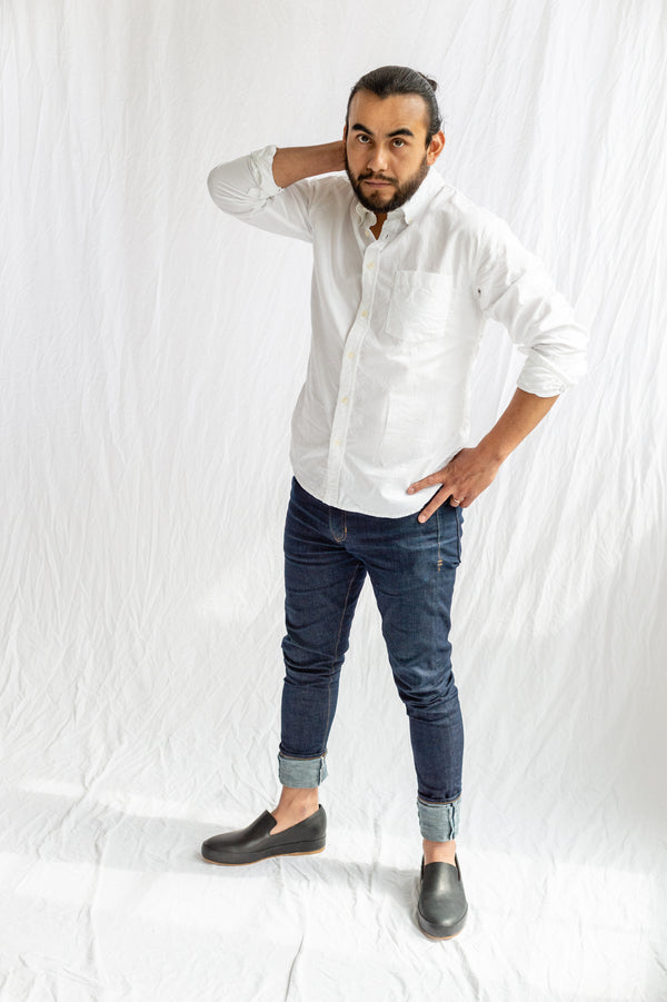 Corridor NY, Classic White Oxford Long Sleeve Button Down