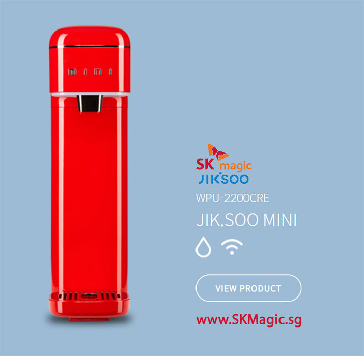 MID YEAR SALE! WPU 2200CRW  JIK.SOO MINI Ultra Slim Ambient IoT Smart Control with Wifi App monitoring Water *Red Purifier System