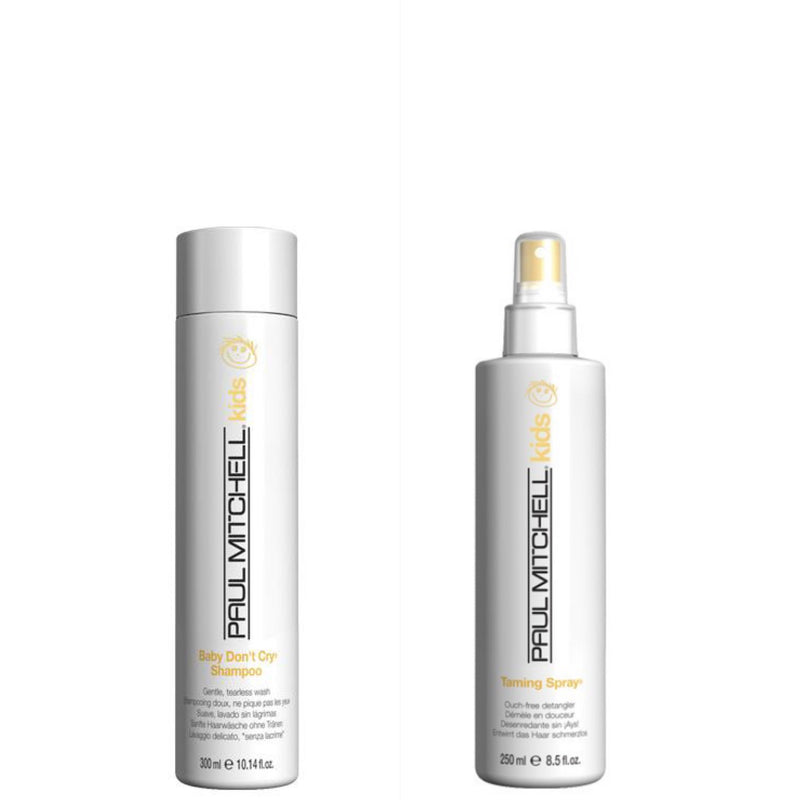Paul Mitchell Baby Don't Cry + Taming Spray DUO NORDIC HAIR HOUSE