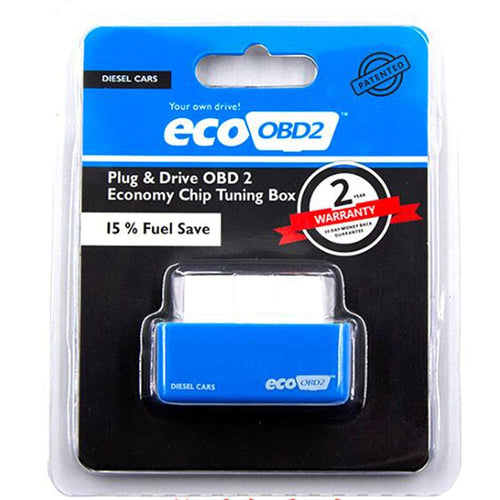 *Green/Blue Eco OBD2 Economy Chip Tuning Box OBD Car Fuel Saver Eco OBD2 for Benzine Cars Fuel