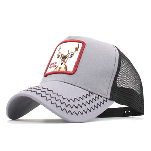 *Animals Embroidery Baseball Caps Men Women Snapback Hip Hop Hat Summer Mesh hat Streetwear Bone gorra animales bordados