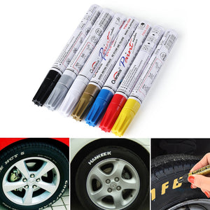 *Colorful Waterproof Pen Car Tyre Tire Tread CD Metal Permanent Paint markers Graffiti Oily Marker Pen Car Styling