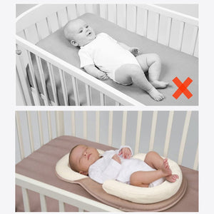 *Baby Pillow Infant Newborn Mattress Pillow Baby Sleep Positioning Pad Prevent Flat Head Shape Anti Roll Pillows