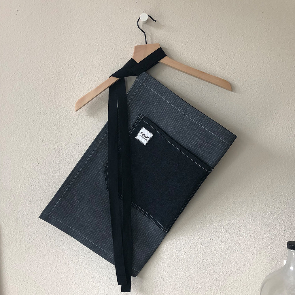 Denim Waist Apron with Pockets