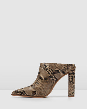 LEAH HIGH HEELS SNAKE LEATHER