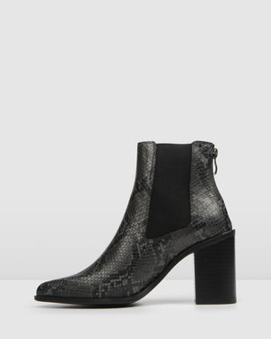 LOVER HIGH ANKLE BOOTS SNAKE