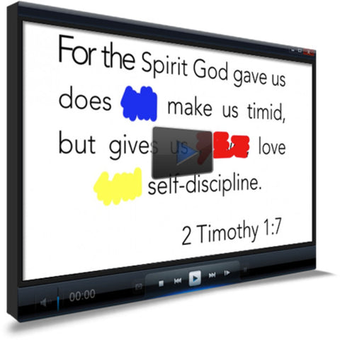 2 Timothy 1:7 Memory Verse Video
