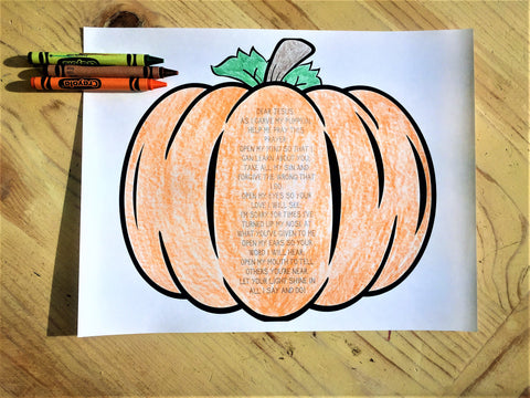 FREE Pumpkin Prayer Prompt Coloring Page
