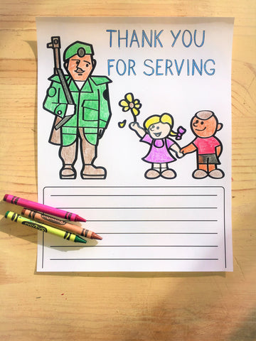 FREE Thank You Soldier Coloring Page