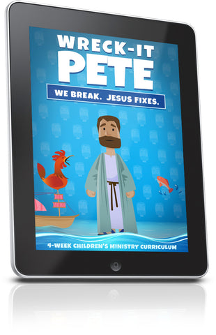 FREE Wreck it Pete Sunday School Lesson