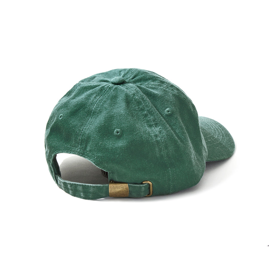 W&S G-DYE (CIRCLE) DAD CAP / GREEN (AC-64)