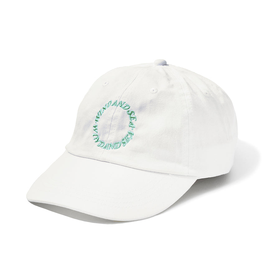 W&S G-DYE (CIRCLE) DAD CAP / WHITE (AC-64)