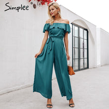 Load image into Gallery viewer, Kaira off shoulder  jumpsuit