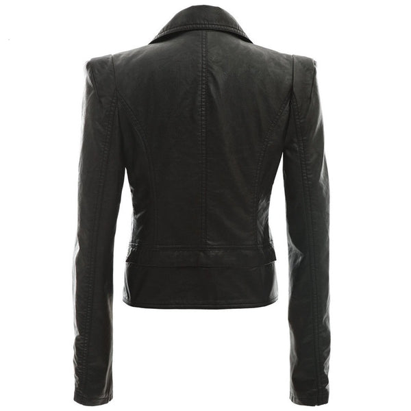 Alabama Slim Fit Ladies Black Leather Jacket