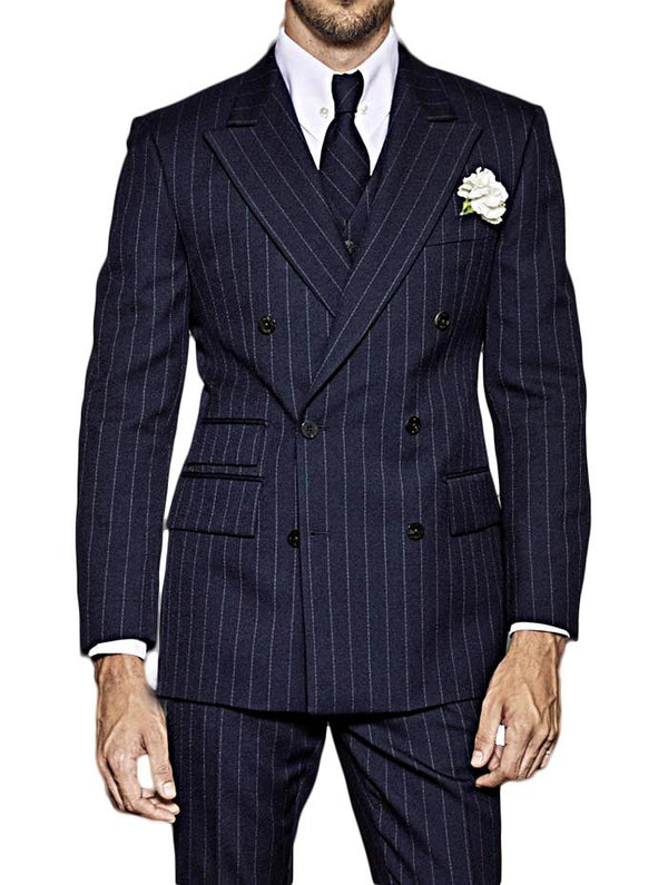 Blue Double Breasted Kingsman Suit