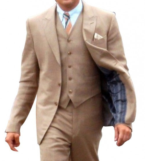 The Great Gatsby Leonardo Dicaprio Brown Suit