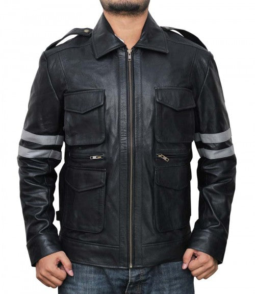 Resident Evil 6 Gaming Leon Leather Jacket
