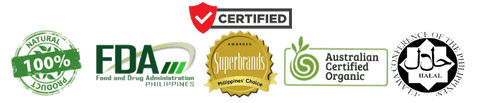 Certified with FDA, Halal, Superbrands and Australian Certified Organic