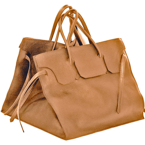 Four Sided Rectangular Bag | Caramel