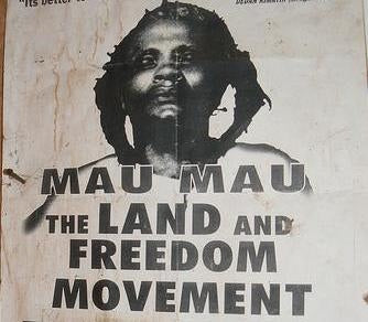 Poster of the Mau Mau freedom movement