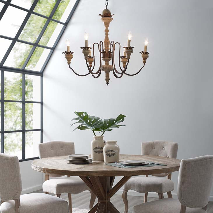 Bountiful Vintage French Candelabra Chandelier