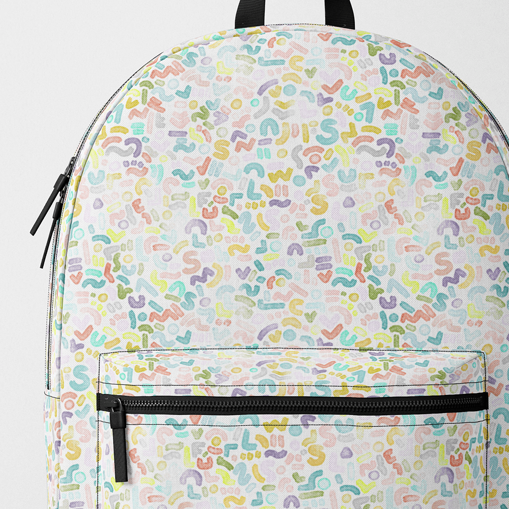 Pastel Pattern Backpack