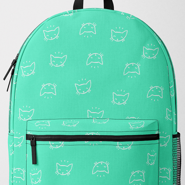 Teal Cats Backpack