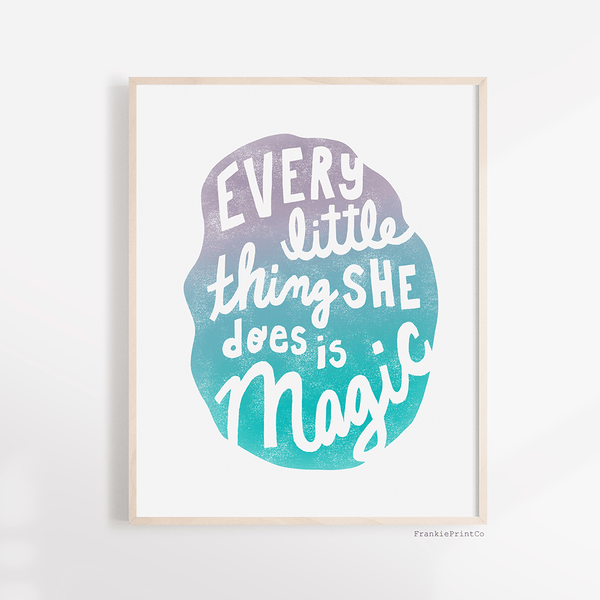 Every Little Thing Art Print in Blue