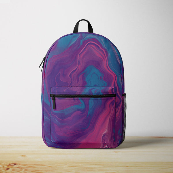 Purple Marble Backpack