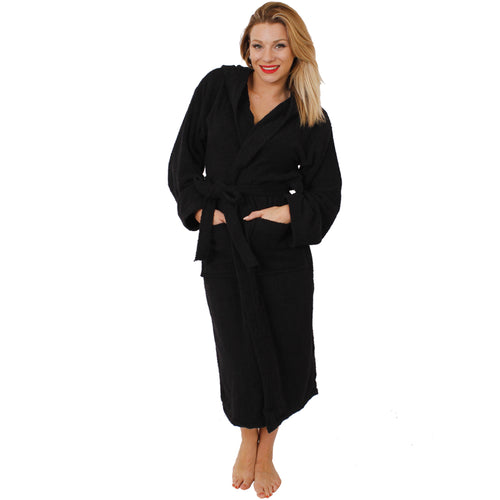 Unisex Black Bathrobe