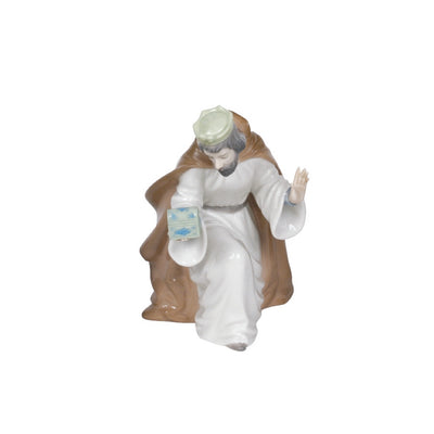 Nao by Lladro King Melchior with Chest Figurine