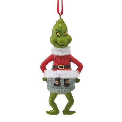 Grinch Mini Ugly Sweater Ornament - Santa