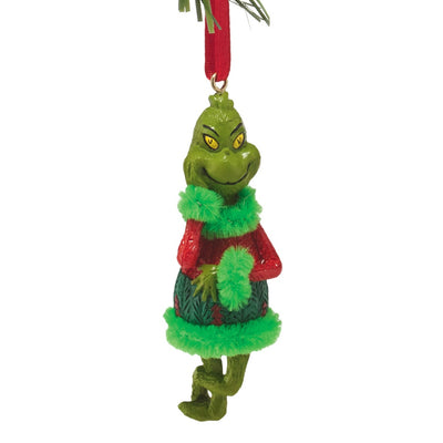 Grinch Mini Ugly Sweater Ornament - Green Fur