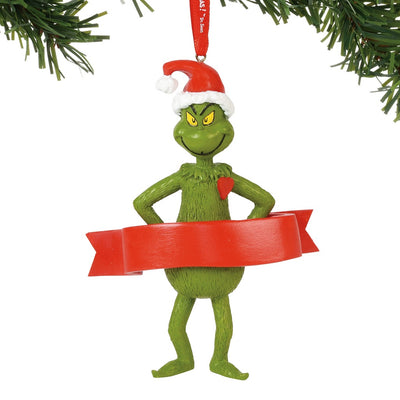 Grinch With A Heart Personalizable Ornament