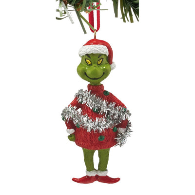 Grinch Mini Ugly Sweater Ornament - Garland