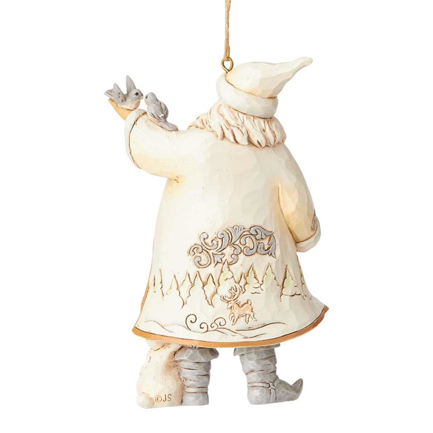 Jim Shore Woodland Santa with Bird Ornament