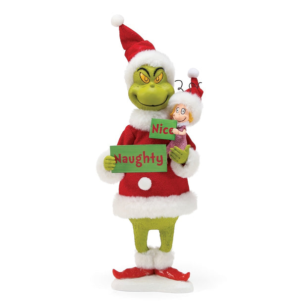 Possible Dreams Clothtique Naughty Or Nice? Grinch Figurine