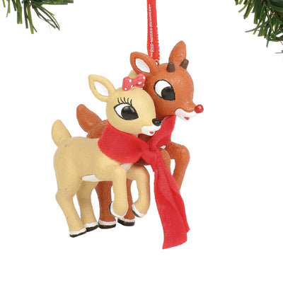 Rudolph The Red-Nosed Reindeer & Clarice Ornament