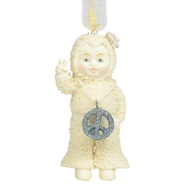 Snowbabies Peace & Love Ornament