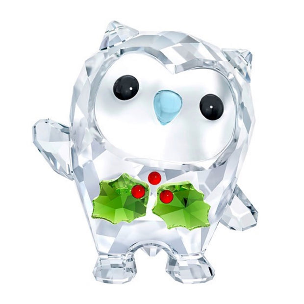 Swarovski Crystal Hoot - Happy Holidays Figurine