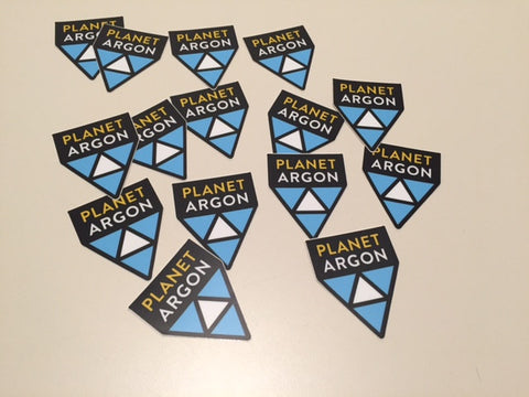 Planet Argon Pyramid- Set of 3 Stickers