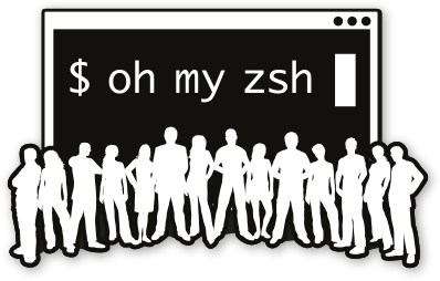 @ohmyzsh stickers - set of 3 stickers