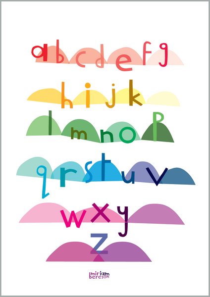 ALPHABET lowercase and UPPERcase BATH (TWO SIDES)