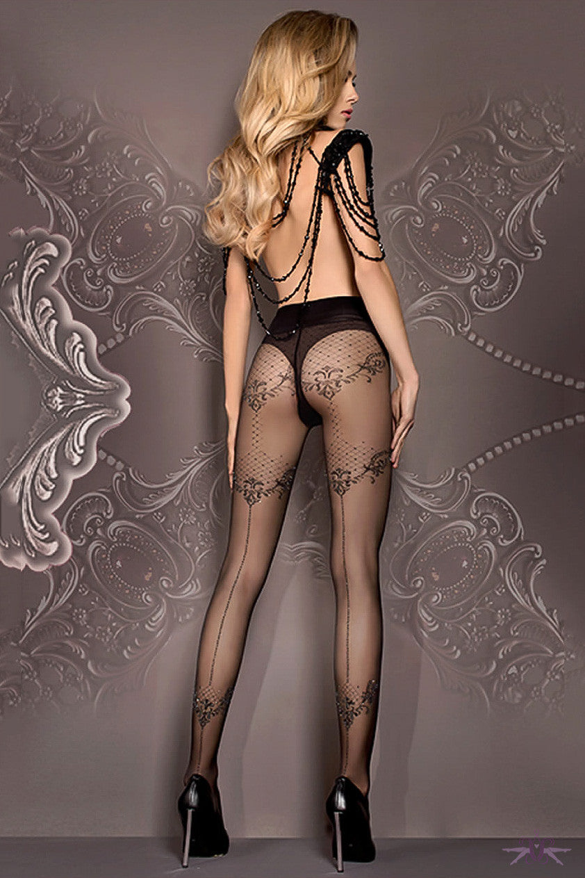 Ballerina Floral Seamed Tights